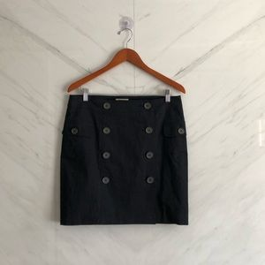 Trench style navy skirt